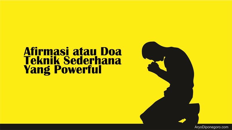afirmasi atau doa