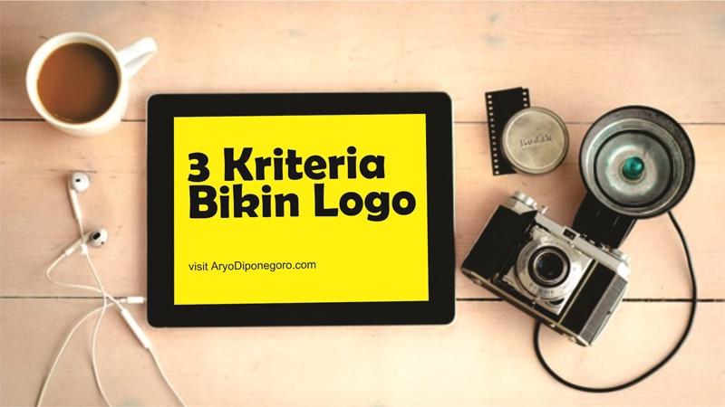 3 Kriteria Bikin Logo