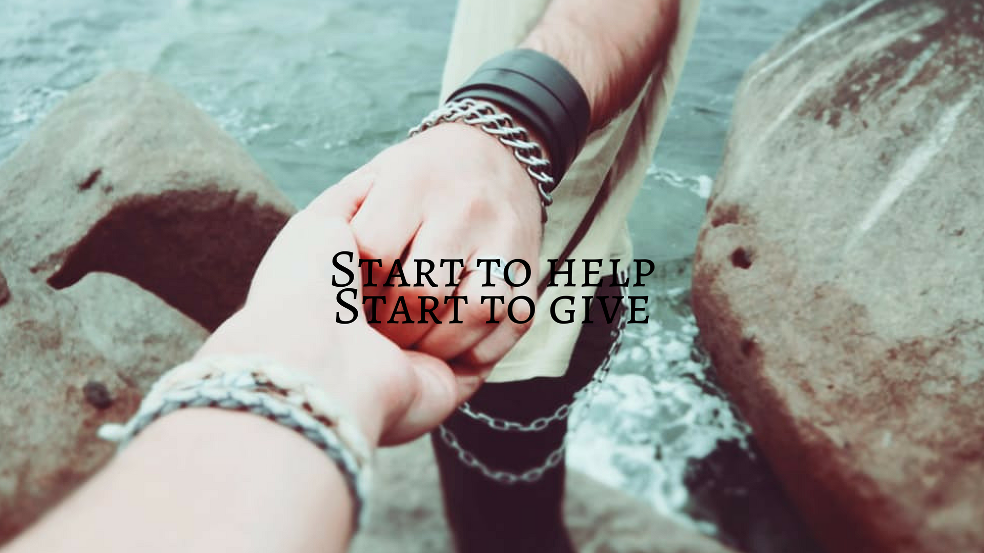 Start to helpStart to give